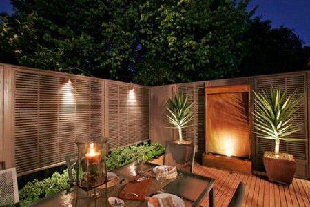 Simple Courtyard Garden Lighting Photos 450x300 Small Decor