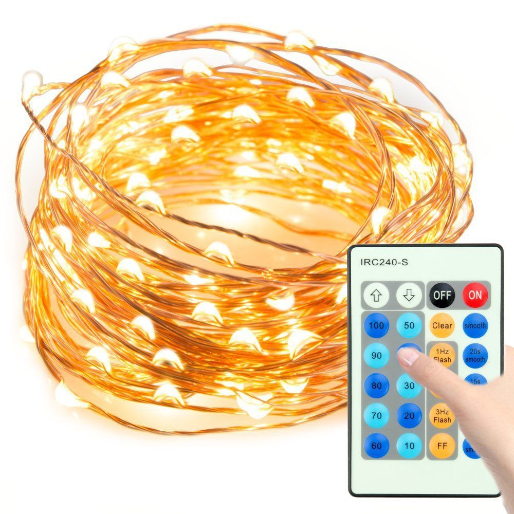 LED String Lights,Waterproof 33ft 100 LED Copper Wire Lights ...