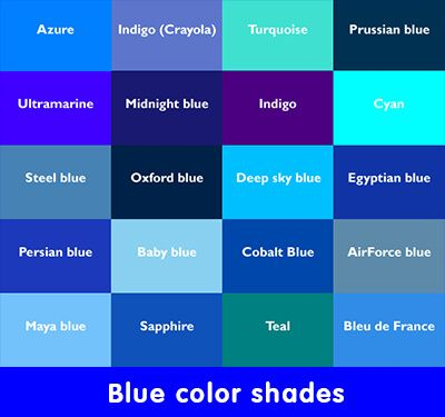 Blue Colour Shades