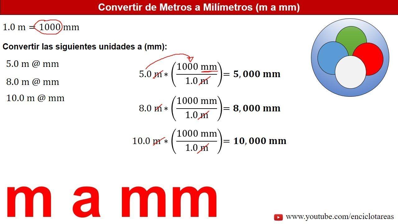 Metros A Milímetros M A Mm Ejemplos Youtube Conversion De Unidades Arquitectura Origami Estados Unidos