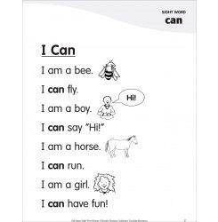i can sight word 39 can 39 super sight words poem kindergarten 2 kindergarten. Black Bedroom Furniture Sets. Home Design Ideas