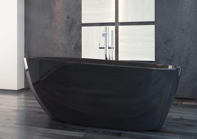 Md Besco Goya Schwarz Freistehend Badewanne Wanne Bad Siphon 160x70 Material