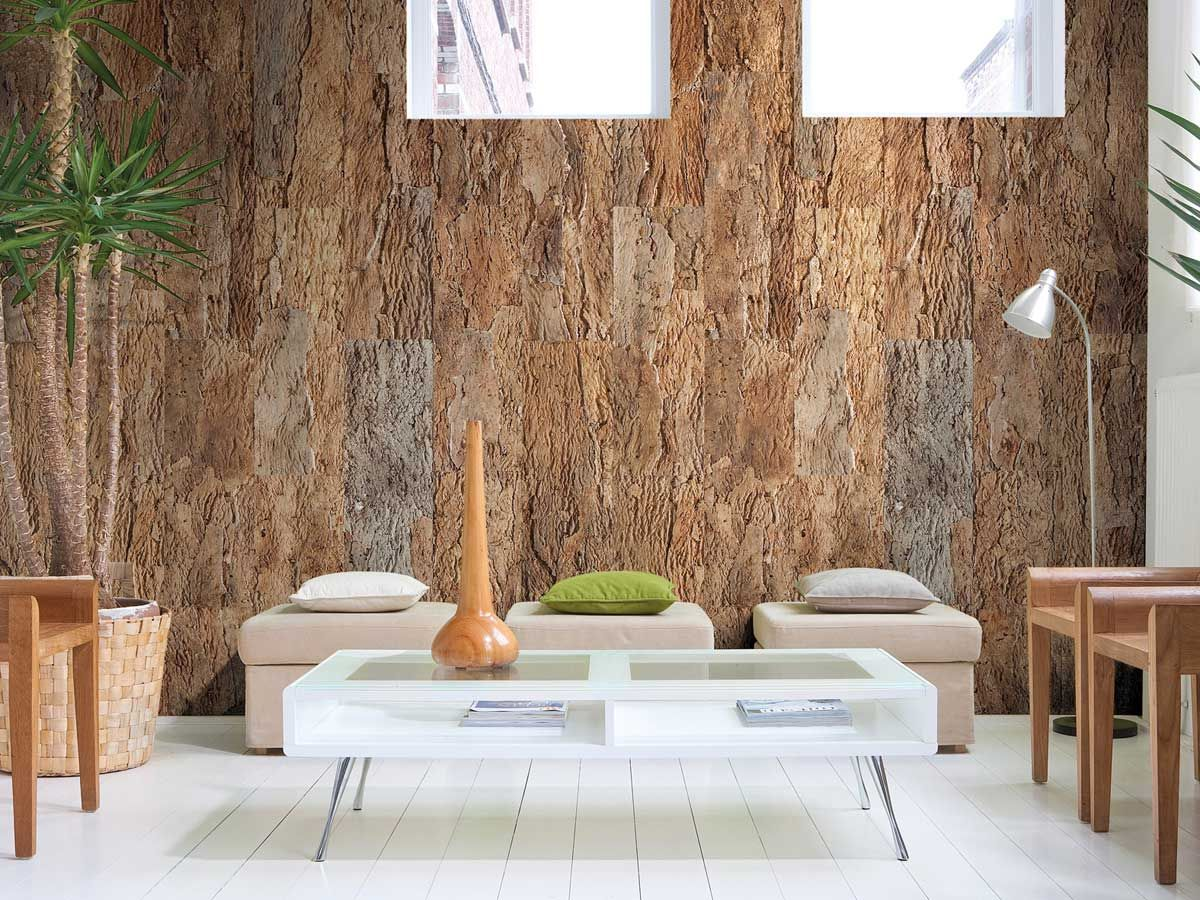 Living room wall designs with tiles - Did You Know Cork Is Fire Resistant Makes Great Sound Proofing Material Spotlight On Cork Flooringflooring Tilessustainable Designwall