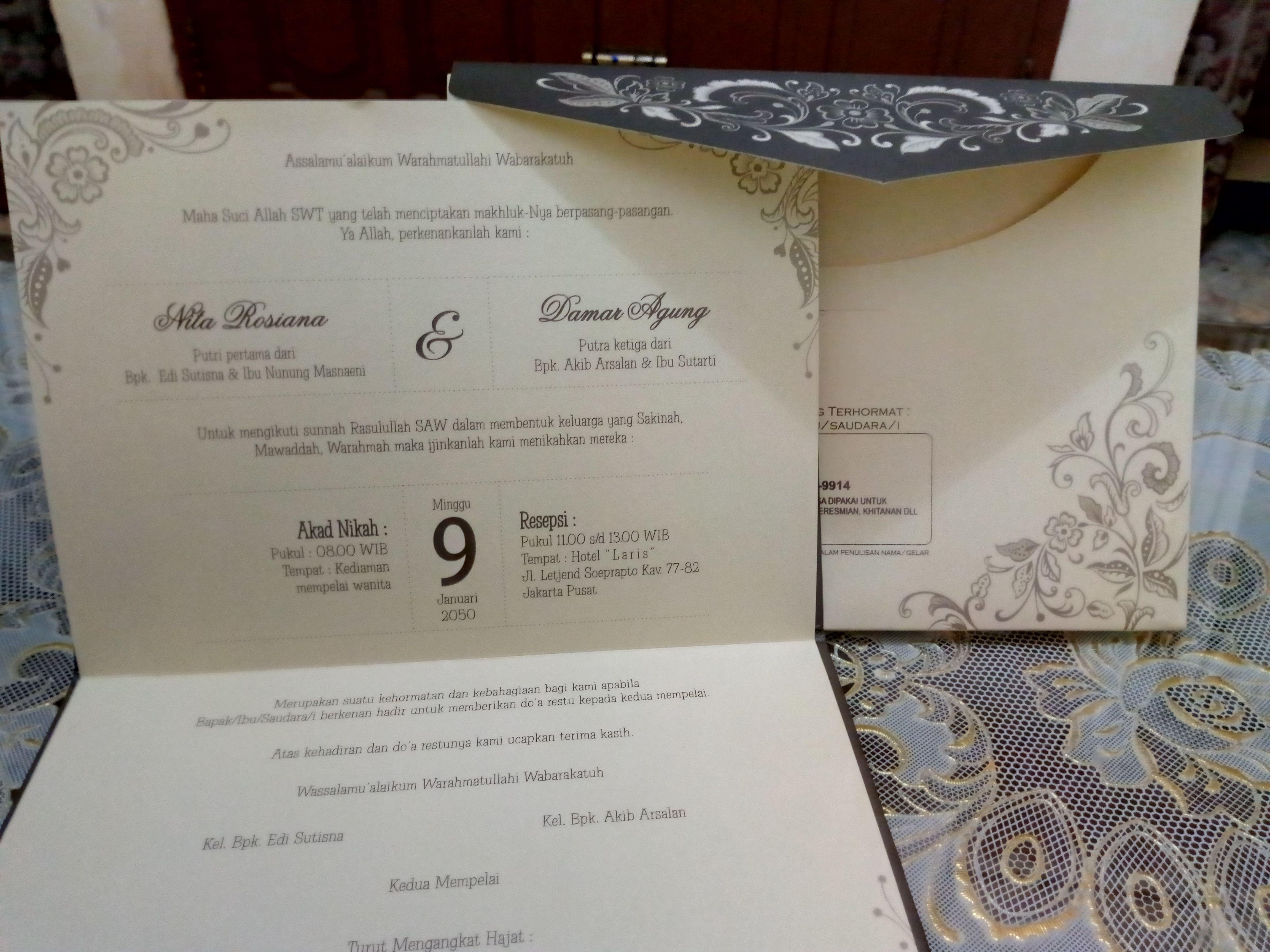 Call Wa 0821 3543 9895 Undangan Pernikahan Contoh Undangan