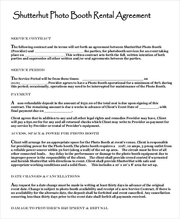 Rental Agreement Templates 11 Free Word Pdf Legal Formats Contract Template Rental Agreement Templates Funeral Program Template