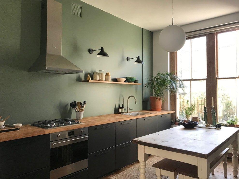 Best Ikea Kungsbacka Cabinets Farrow Ball Green Smoke Paint 400 x 300