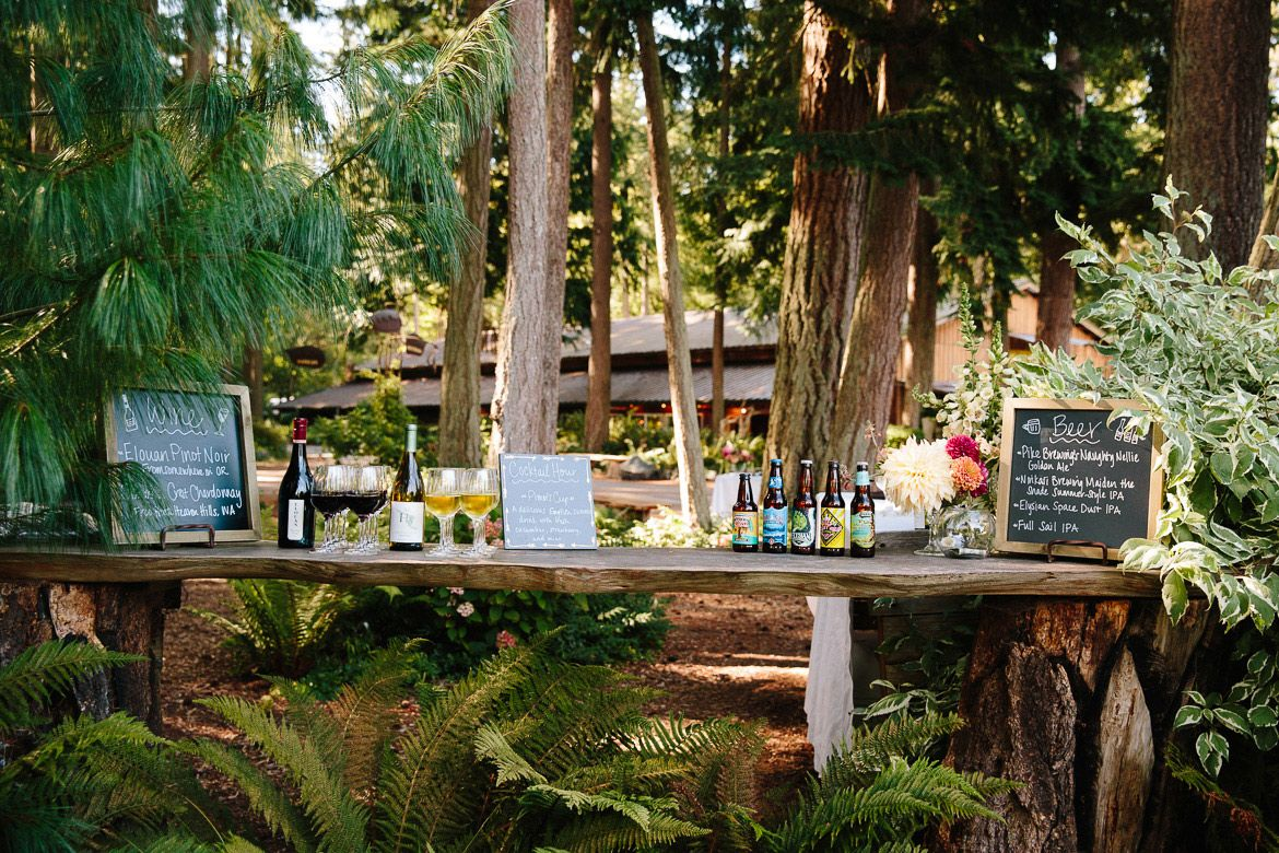 Tail Hour Outdoor Bar At A Fireseed Catering Wedding On Whidbey Island Wa