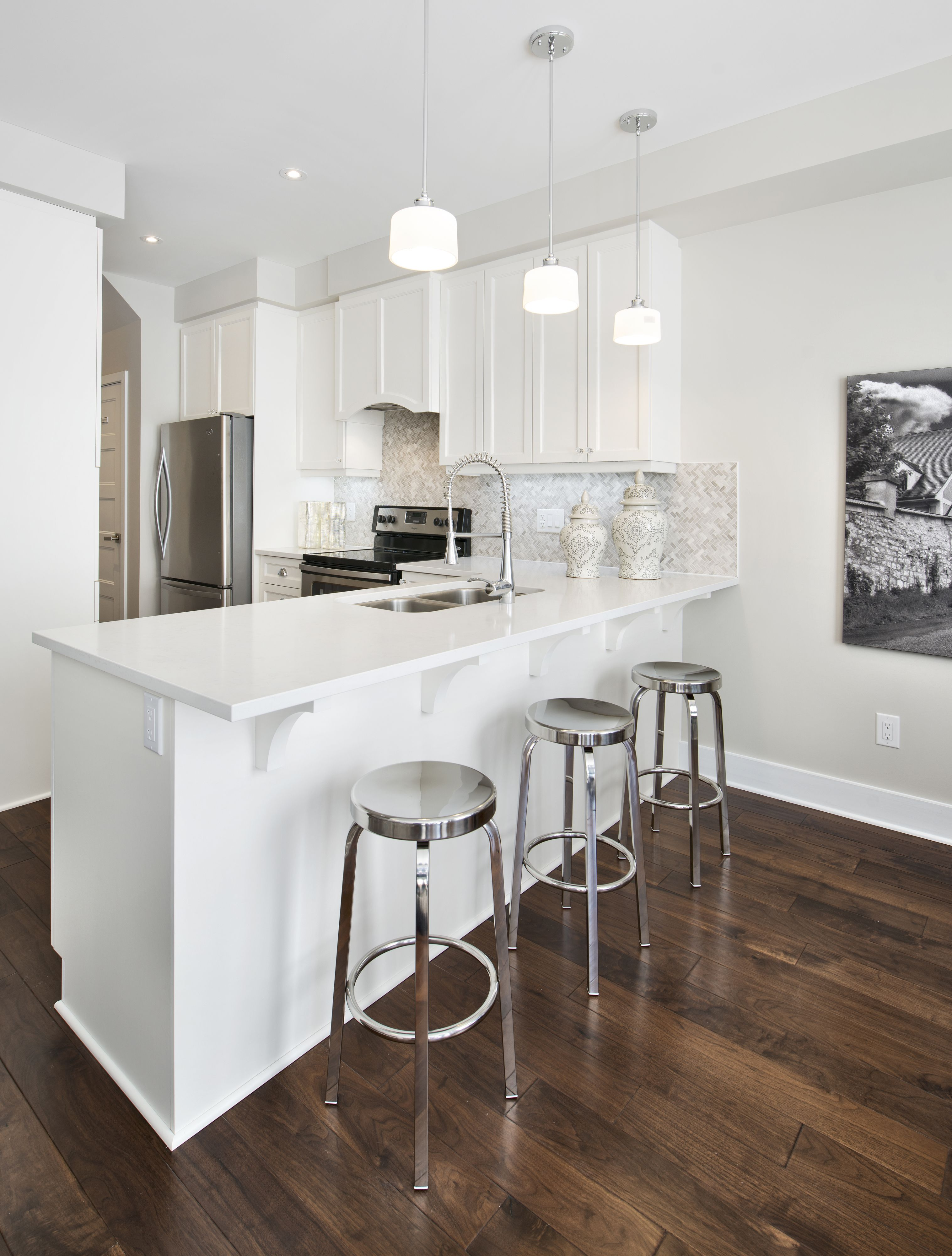 This Is The Kitchen Of The Granite Townhome Model Home In