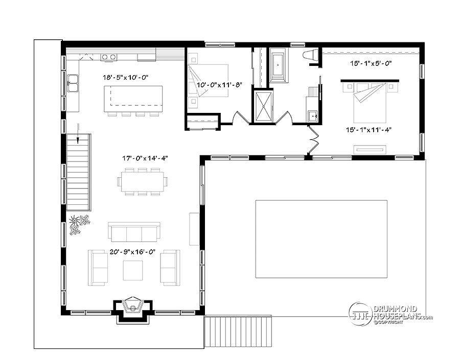 multi family plan Laeticia No. 3990 | L shaped house plans ...