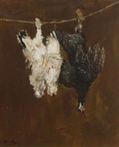 Max Slevogt - Schneehühner und Perlhuhn (1900)