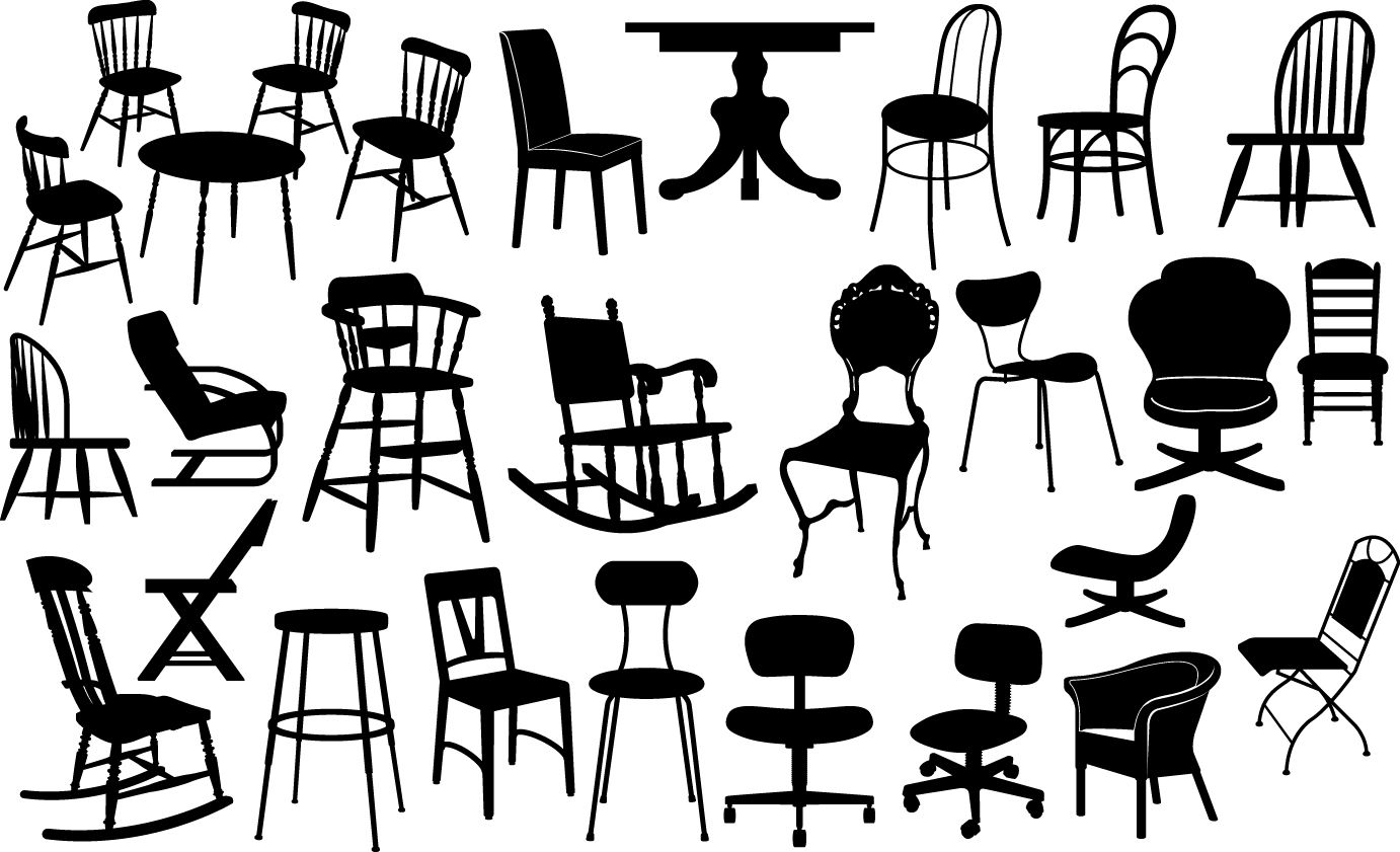 Chair Silhouettes Armchair Chair House Indoor Interior Living Retro Room Sit Furniture Office Home Silhouette Vector Silhouette Silhouette Free