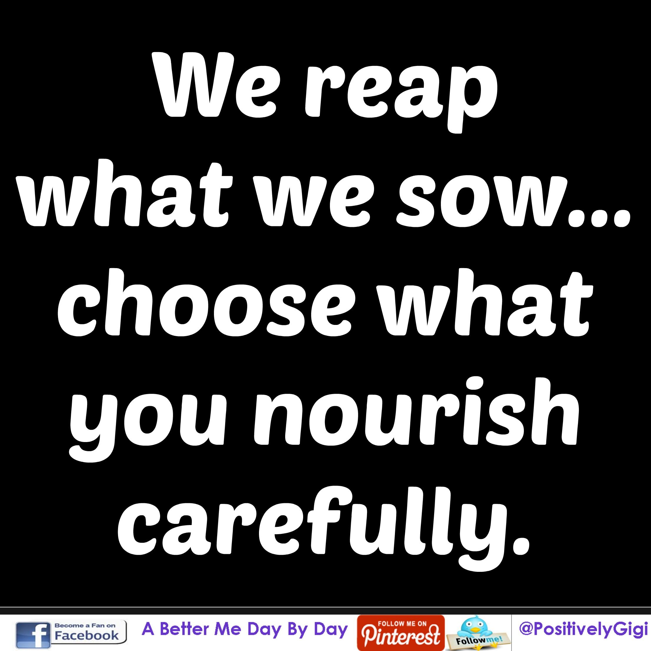 Reap What You Sow Quotes Interesting We Reap What We Sow Choose Carefully  The Secret How To Get The . Inspiration