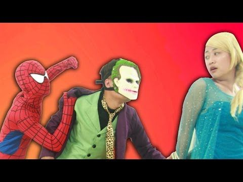 Joker Kidnapped And Tied Elsa Spiderman Fought With Joker Hulk Gave Flowers To Elsa And Barbie Youtube Elsa And Spiderman Spiderman Fight Spiderman