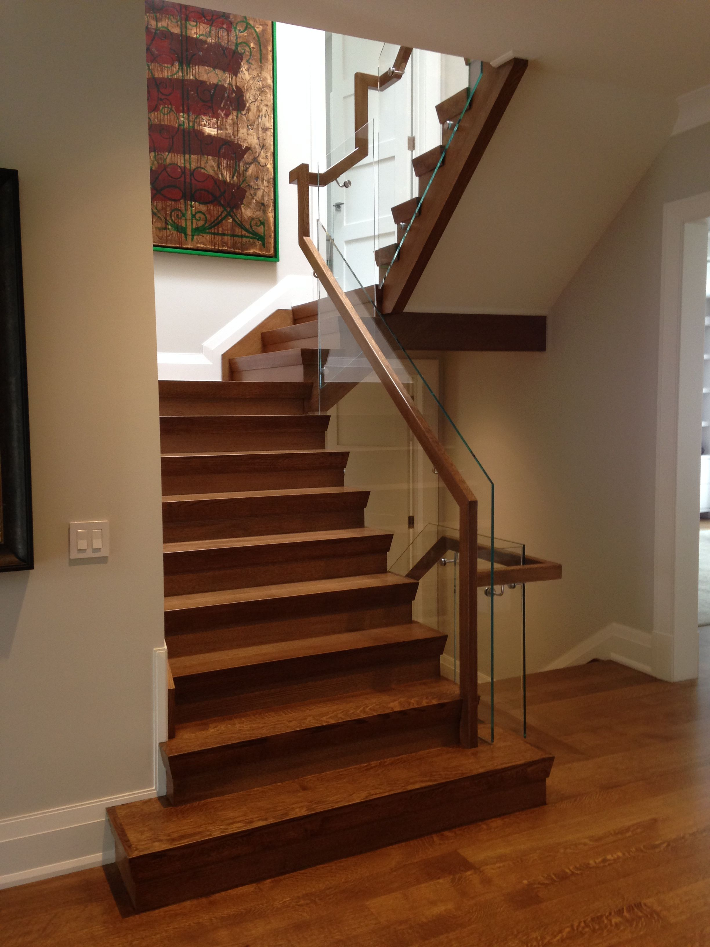 Image result for wood handrail turn   Stairs design
