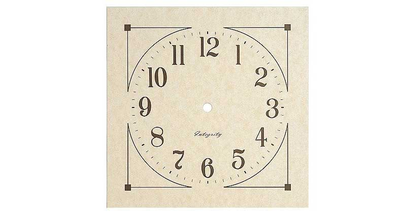 Small Mission Parchment Paper Wall Clock Dial Clock