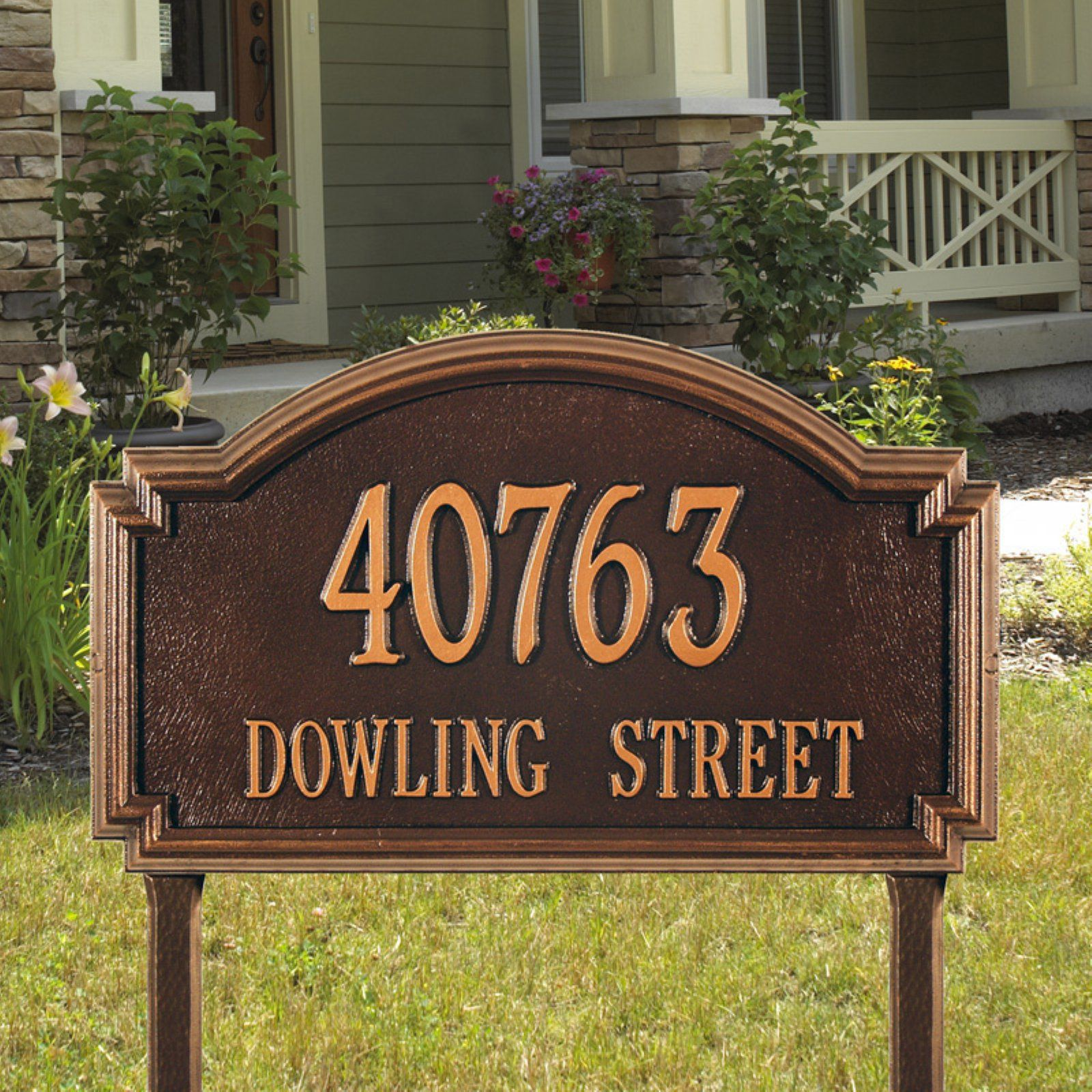 Whitehall Williamsburg 2 Line Lawn Mounted Plaque In 2020 Whitehall Products Address Sign Whitehall