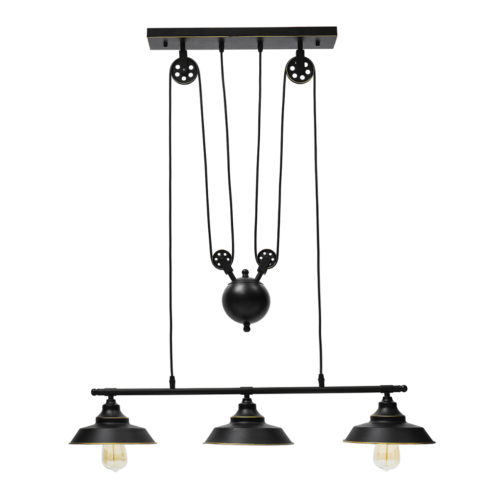 Free 2 Day Shipping Buy Pulley Pendant Light Three Light Kitchen Island Light Adj Vintage Ceiling Lights Pulley Pendant Light Factory Pendant Light