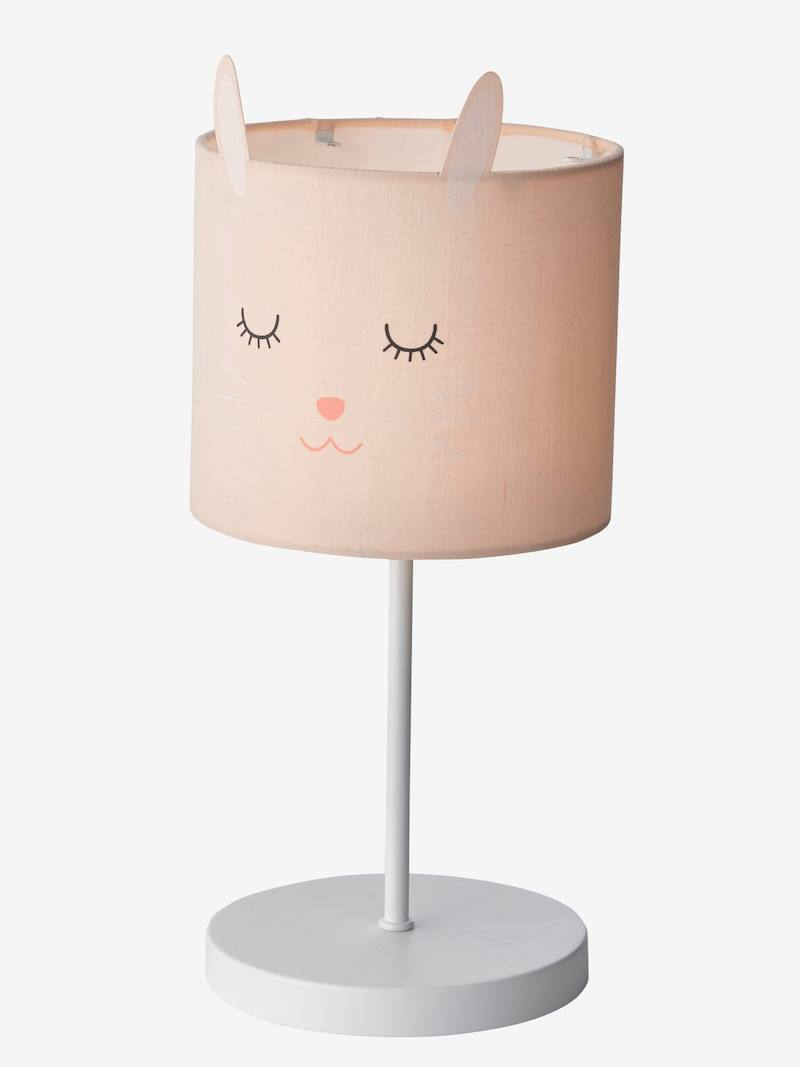 Bunny Bedside Table Lamp Pink Light Solid With Design Bedding