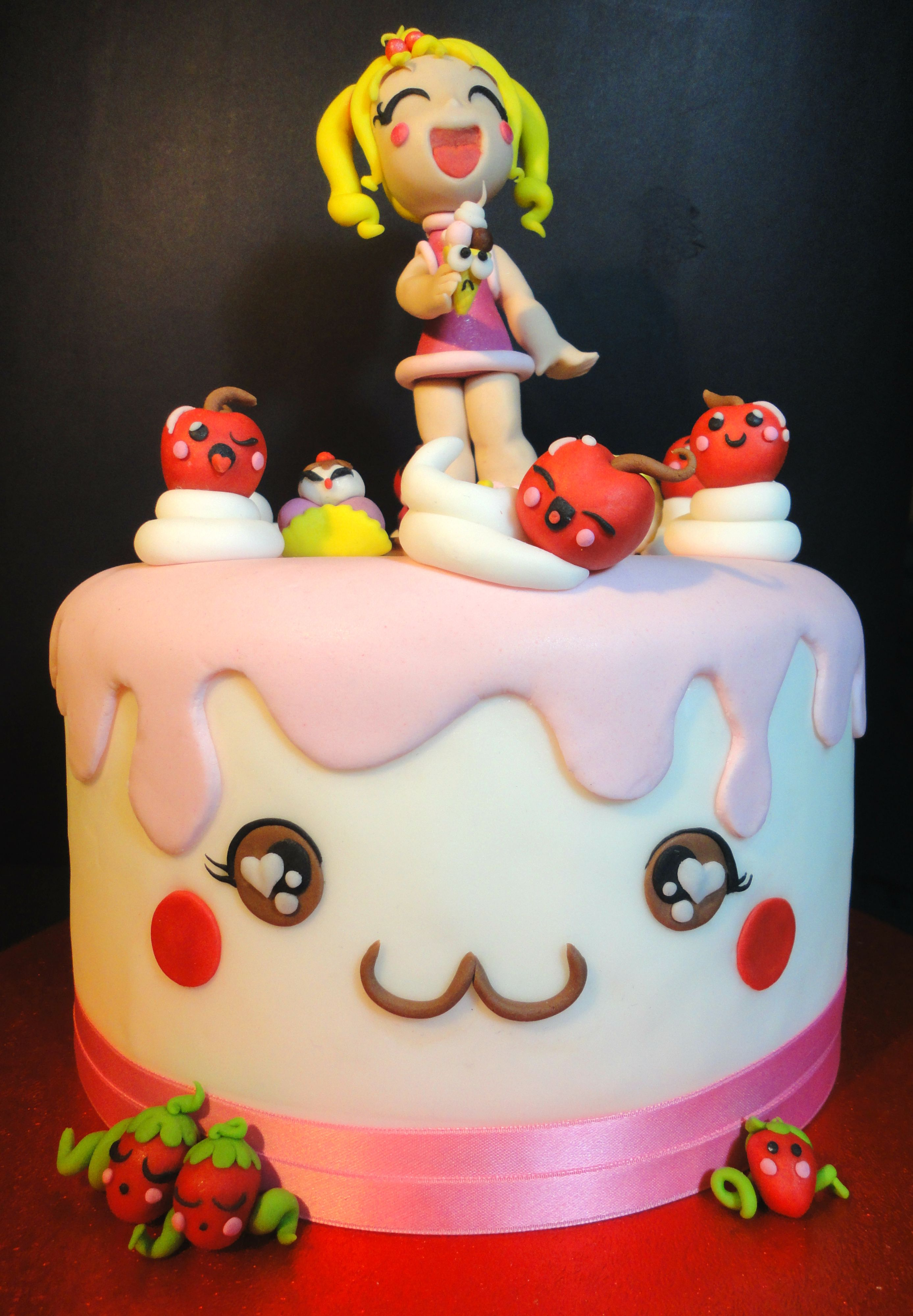 Kawaii Cake Cake Pinterest Kawaii Cake and Birthday cakes