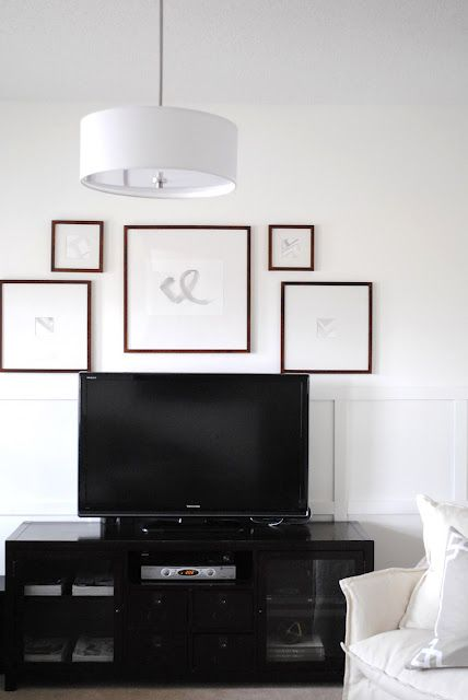 tv wall. A way to organize photos above the tv?   Photo and frame ...