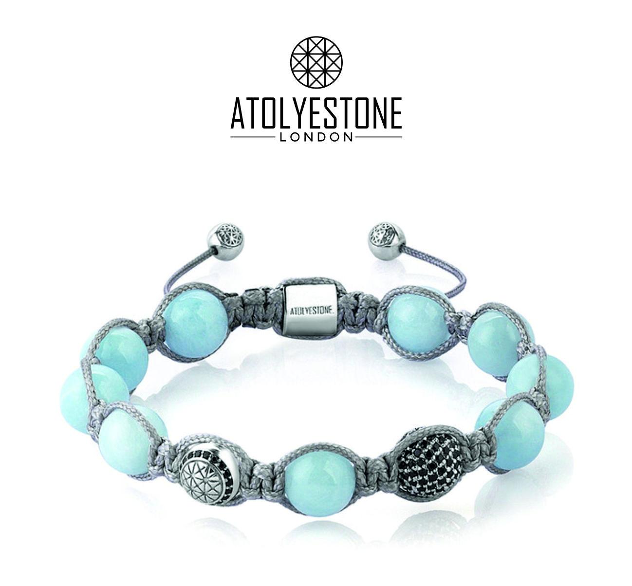 Aquamarine Shamballa Bracelet - Sterling Silver #jewelry #bracelet #fasion  #shamballa
