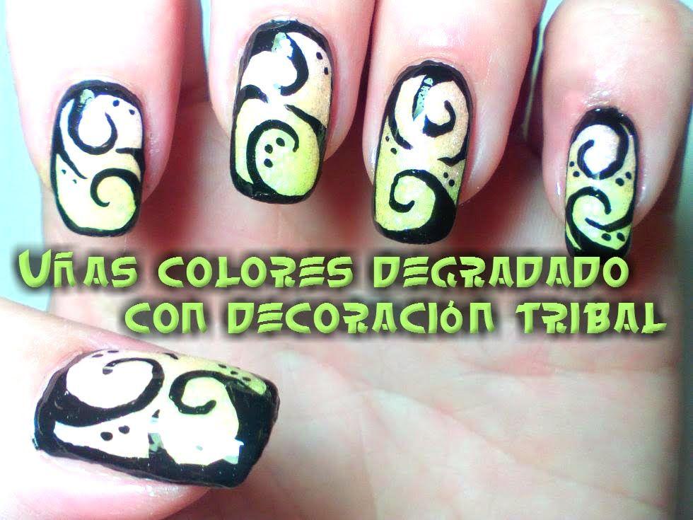 Magnífico Arte De Uñas Tribal Ideas Ornamento Elaboración Festooning ...