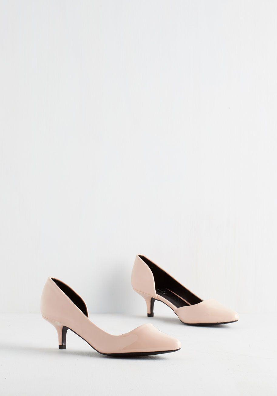 Exude Elegance Heel In Petal Mod Retro Vintage Heels Modcloth Com Vintage Heels Heels Wedding Guest Outfit Fall