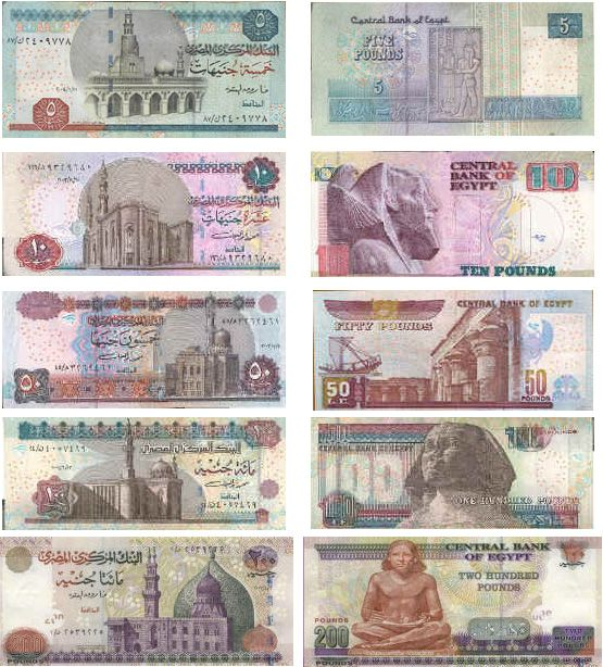 egypt currency | Currency and Money | Study Arabic In Egypt - A ...