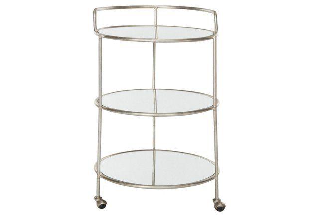 Dominkika Bar Cart, Silver