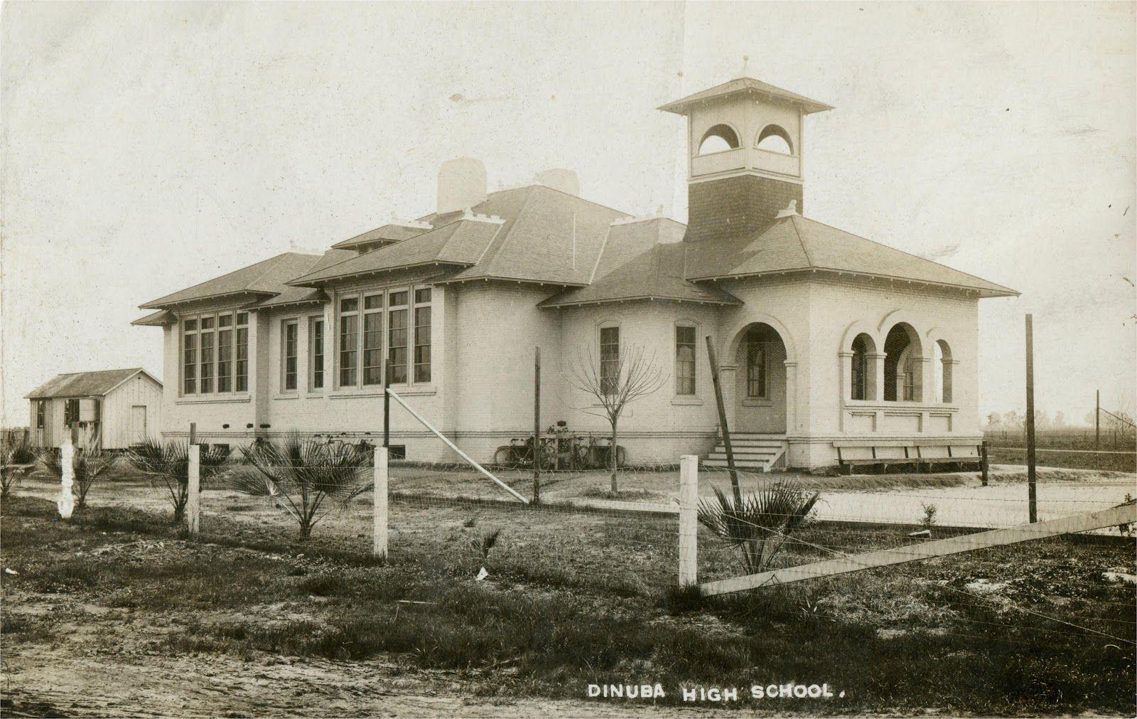 Car Dealerships In Bakersfield Ca >> Dinuba High School, circa 1908.   Old Tulare County ...