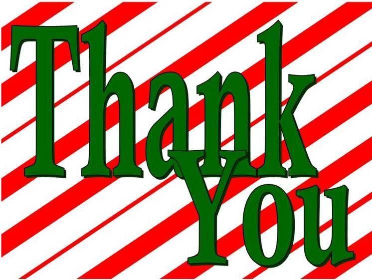 CHRISTMAS, THANK YOU CLIP ART | Printable thank you cards ...