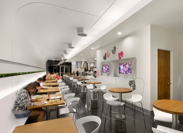 Four Important Matters To Build Good Fast Food Restaurants Elegant White Interior Design
