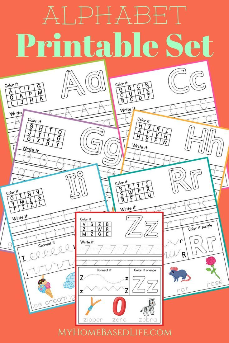 Print these Alphabet Printables out to help your child get ready for ...