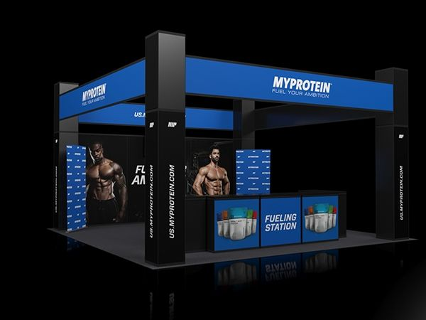 Trade Stands Olympia : Myprotein olympia exhibition stand on behance made by ake