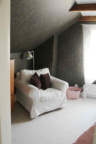 Calm bedroom.