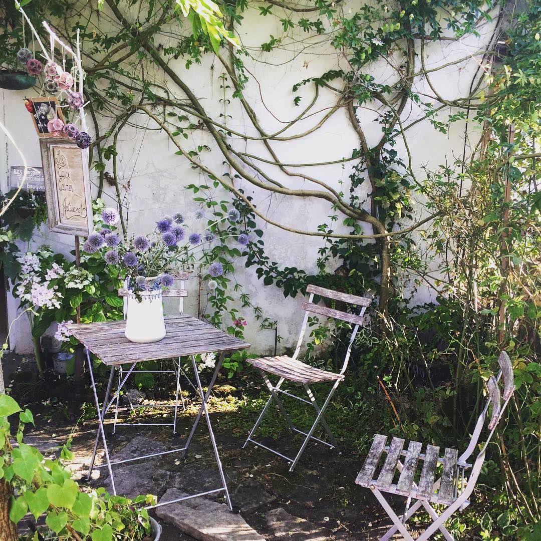 Decoration Petit Jardin pour petit #jardin à mornac très #romantique ! #oleron #chardon #bleu