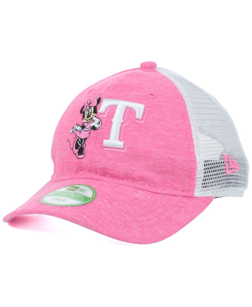 size 40 34e75 4fd8e New Era Girls  Texas Rangers Disney Tykes Trucker 9TWENTY Cap