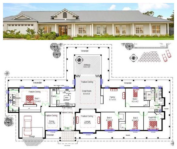 Australian Acreage Colonial Homestead Australian House Plans Dream House Plans Colonial House Plans