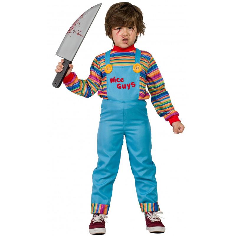 Disfraz Chucky Muñeco Diabolico Halloween Edad 3 4 Años Disfraz De Chucky Disfraz De Chucky Niño Disfraz Halloween Niña