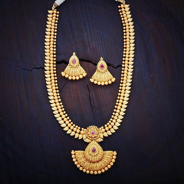 temple gram medium gold online one jewelsmart haram model necklace long beads traditional look design jewellery
