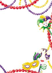 free mardi gras invitation templates | Mardi Gras Party Invitations, Mardi Gras beads and mask invitations