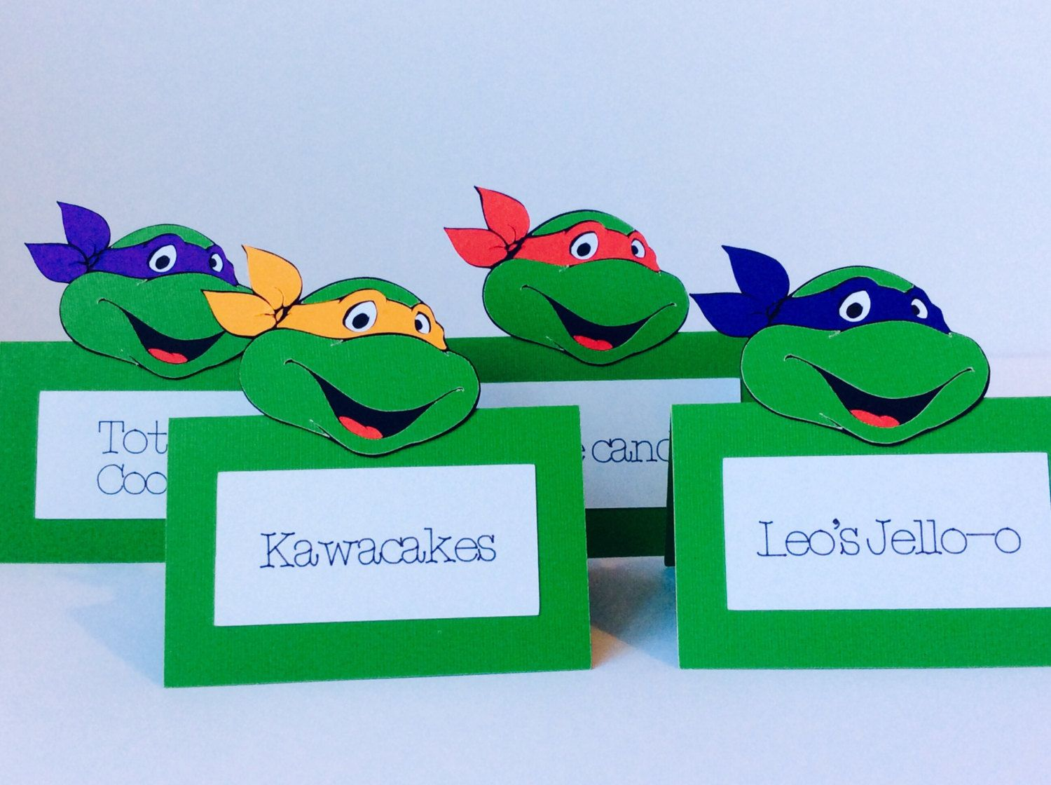 Place Cards,Food Labels,Ninja Turtles Birthday Party Decorations ...
