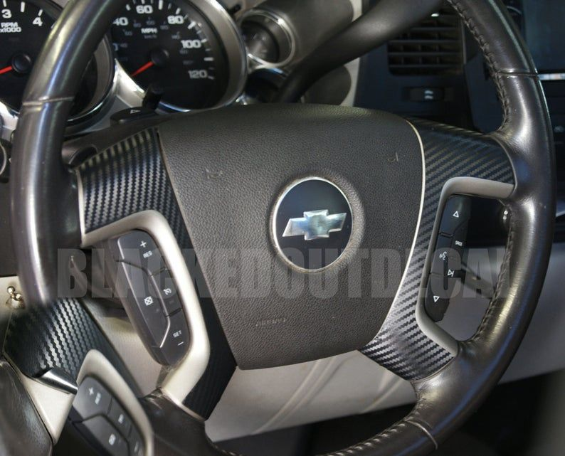 07 13 Carbon Fiber Steering Wheel Spoke Overlay Decal Cover Etsy In 2020 Chevy Silverado Accessories Silverado Accessories Chevy