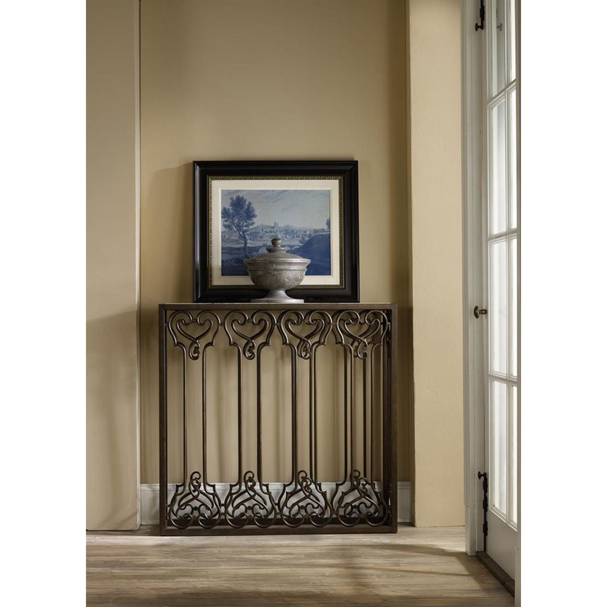 Hallway storage armoire  Hooker Furniture Thin Hall Console  Hooker Furniture  Pinterest