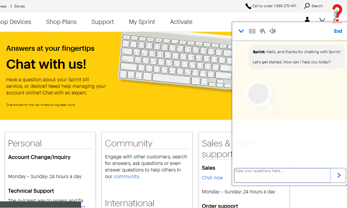 Sprint Chat Support This Or That Questions Write An Email Email Form