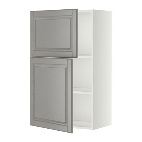 Best Metod Wall Cabinet With Shelves 2 Doors White Bodbyn Grey 400 x 300