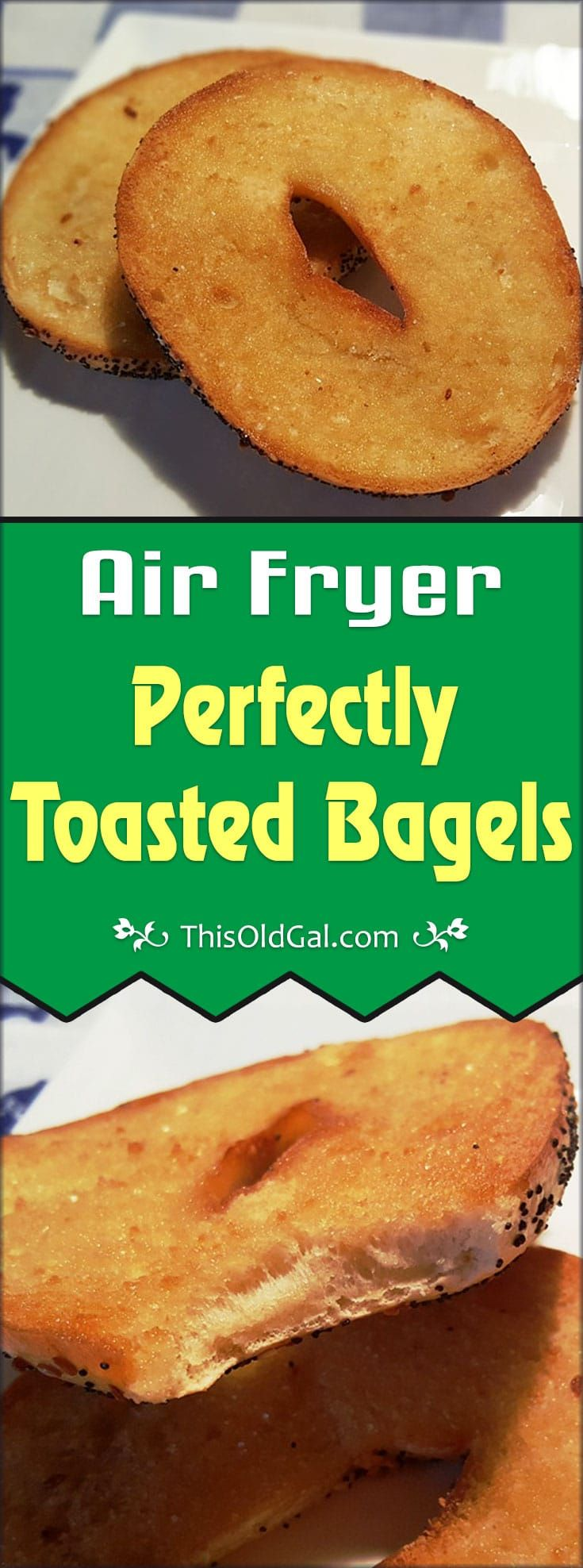 Everything you need to make Air Fryer Bagels. Air Fryer