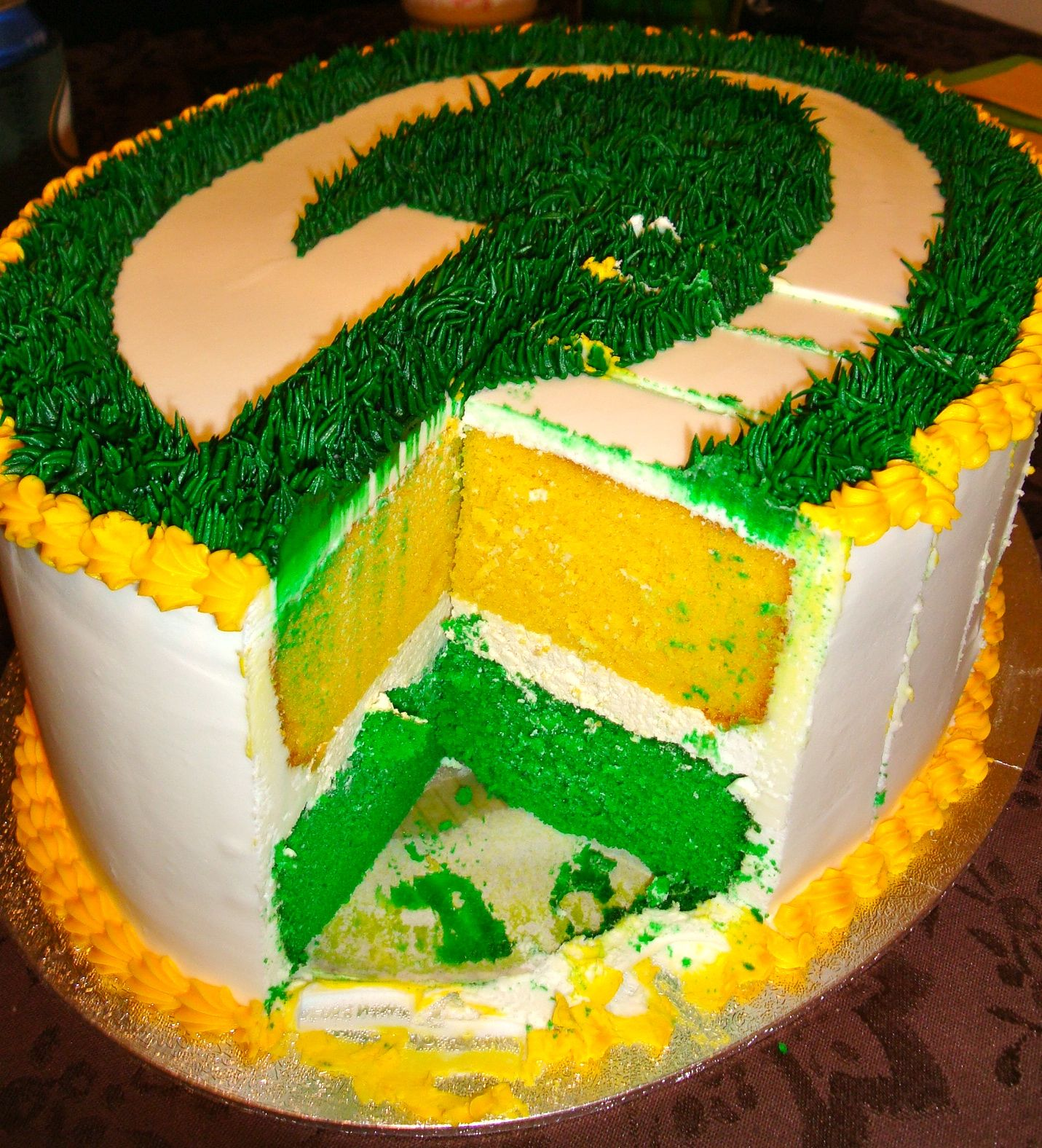 Another Shot Of The GB Packers Birthday Cake I Had Made At