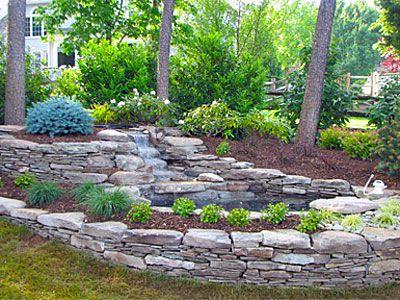 landscape design build lily pond vienna va green wave landscaping