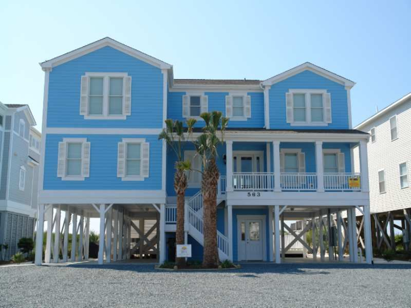Holden Beach Nc Dreams Come Blue 563 Obw A 6 Bedroom Oceanfront Rental House In Holden Beach